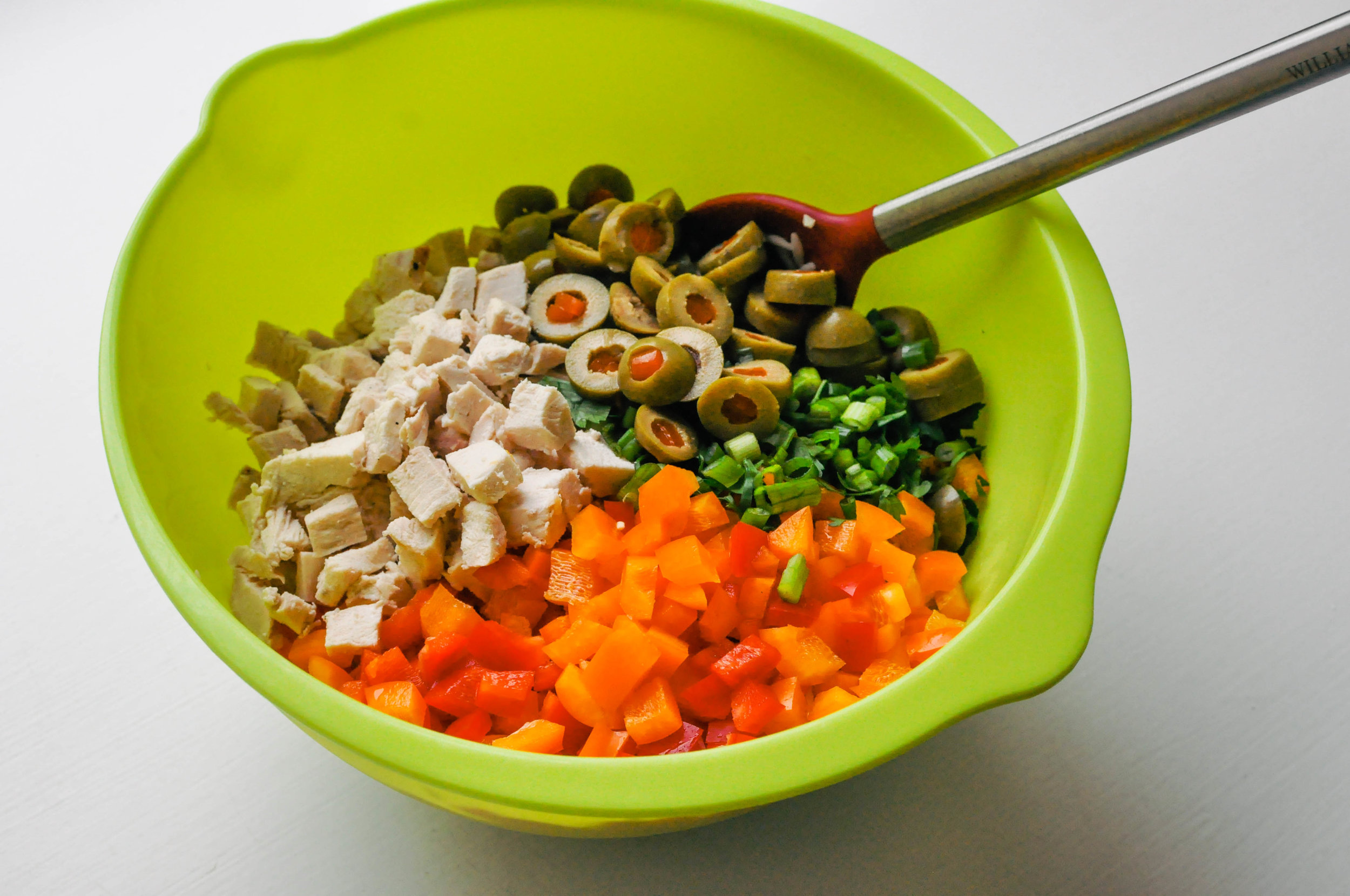 Orzo Salad with Chicken, Bell Peppers, and a Wholegrain Mustard Dressing | This Healthy Table