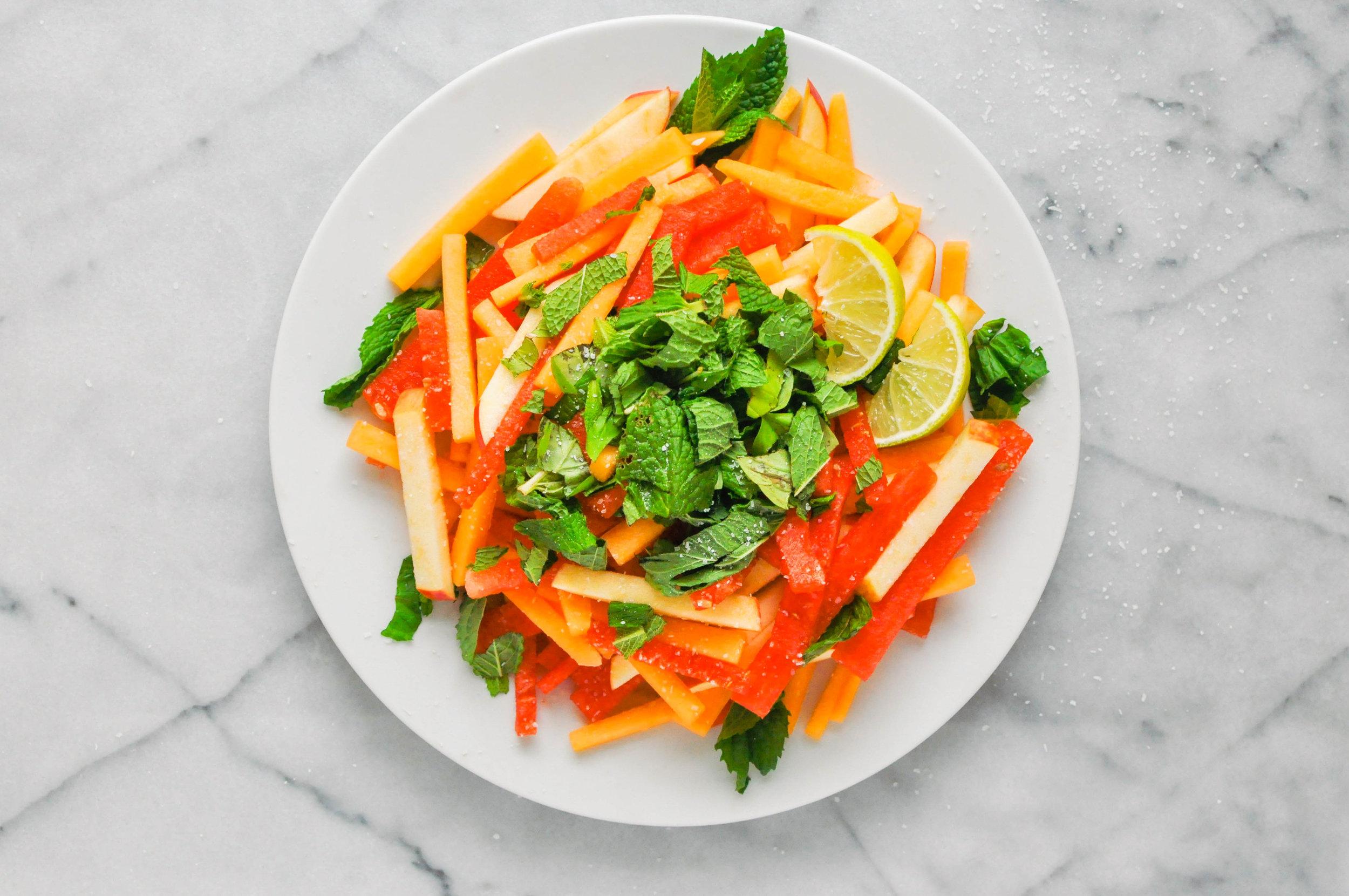 Watermelon Summer Salad - a healthy, delicious summer salad recipe   This Healthy Table