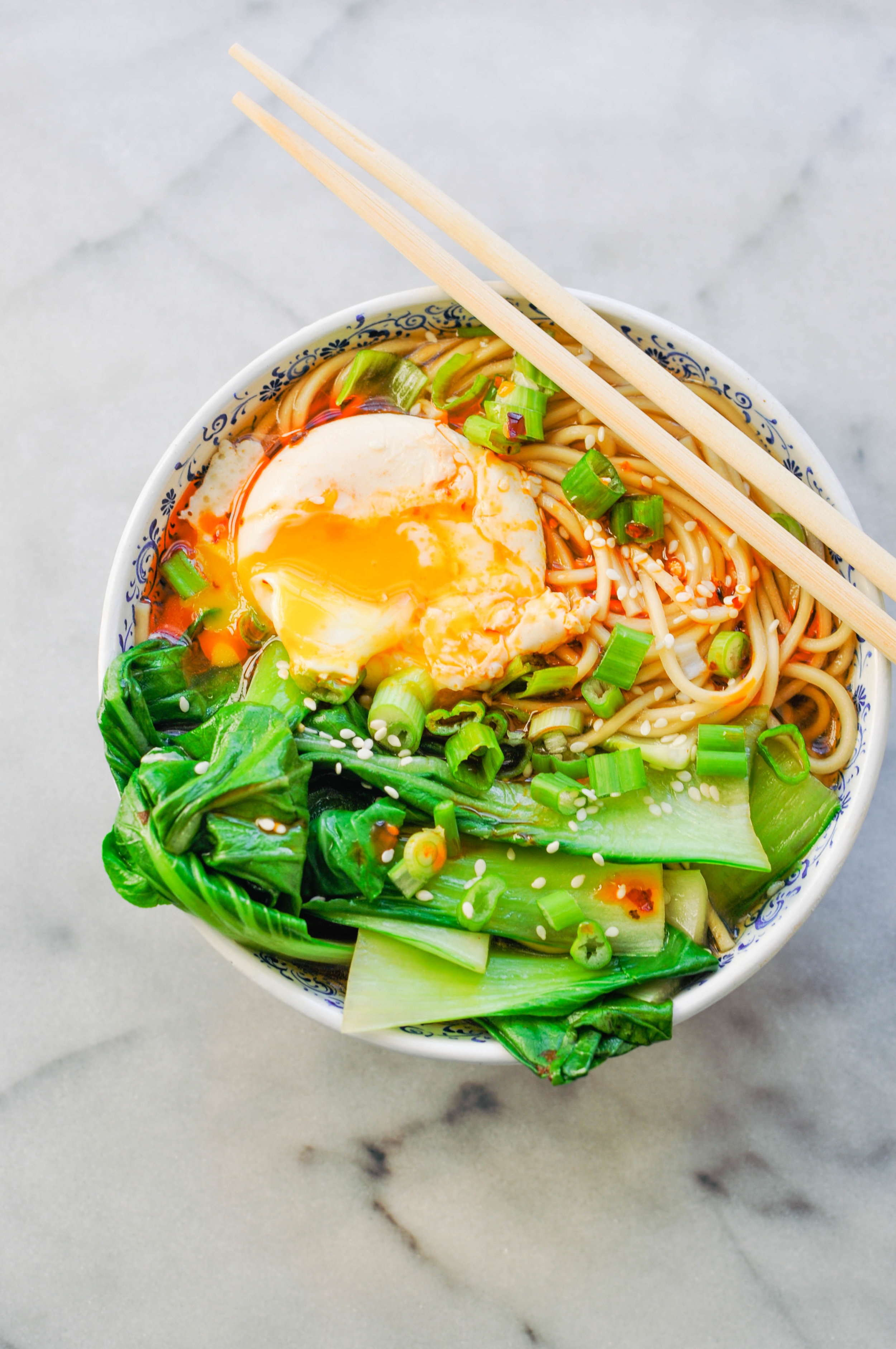 Miso Ramen with Bok Choy and Chili Oil | This Healthy Table