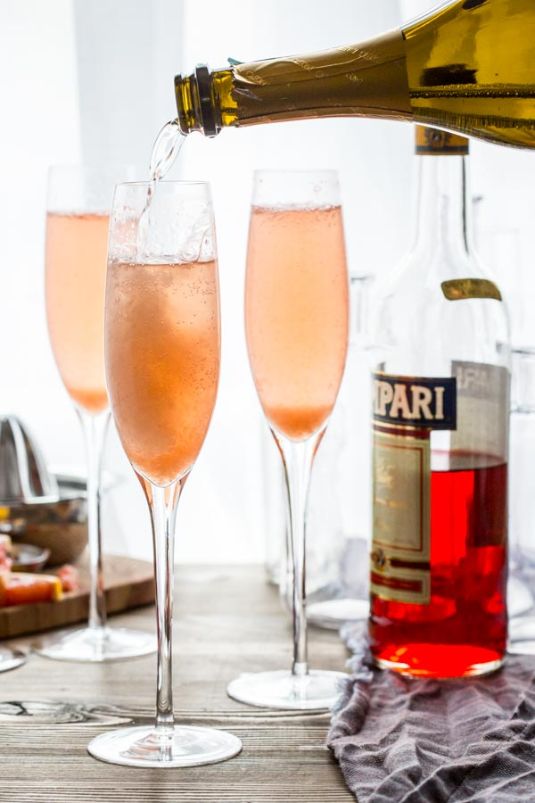 Grapefruit Champagne Cocktails from Healthy Seasonal Recipes. Get the recipe here. -