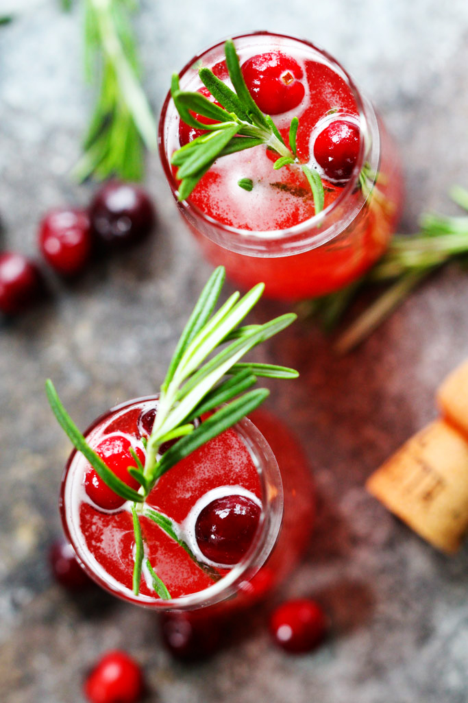 Cranberry Ginger Bellini from Platings and Pairings. Get the recipe here. -