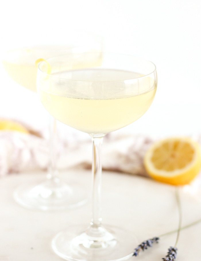 Lavender French 75 from Lively Table. Get the recipe here. -