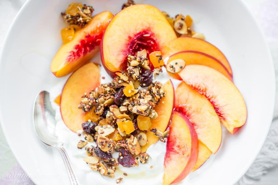 Quinoa Granola from Saving Room for Dessert. Get the recipe here. -