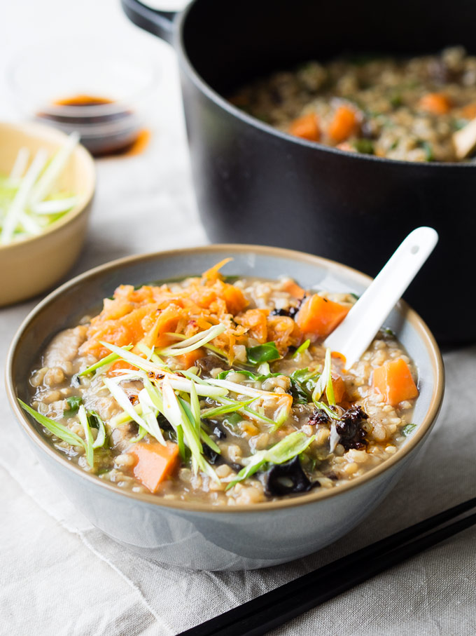 Vegetable Congee from The Worktop. Get the recipe here. -