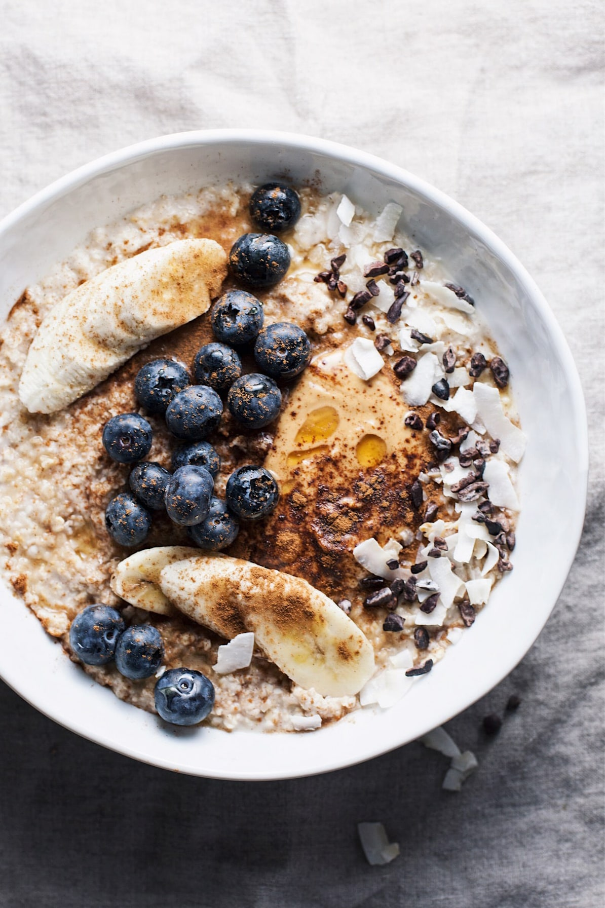 Nourishing Oatmeal Breakfast Bowl from A Simple Palate. Get the recipe here. -