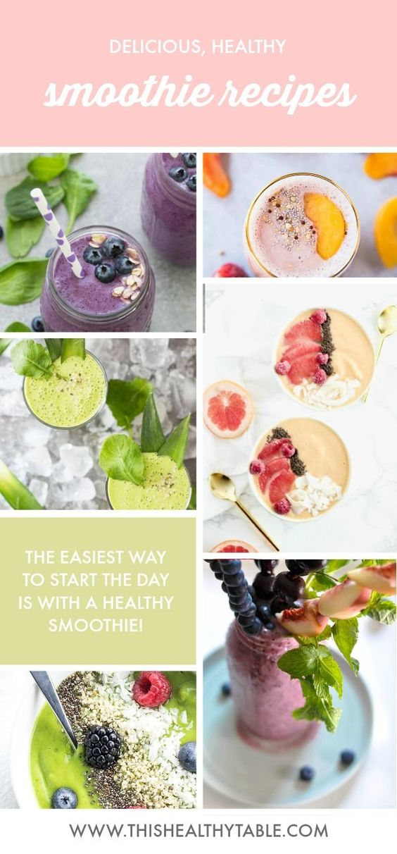 These easy, healthy fruit smoothie recipes are a wonderful way to start your day and they also make a perfect afternoon snack!