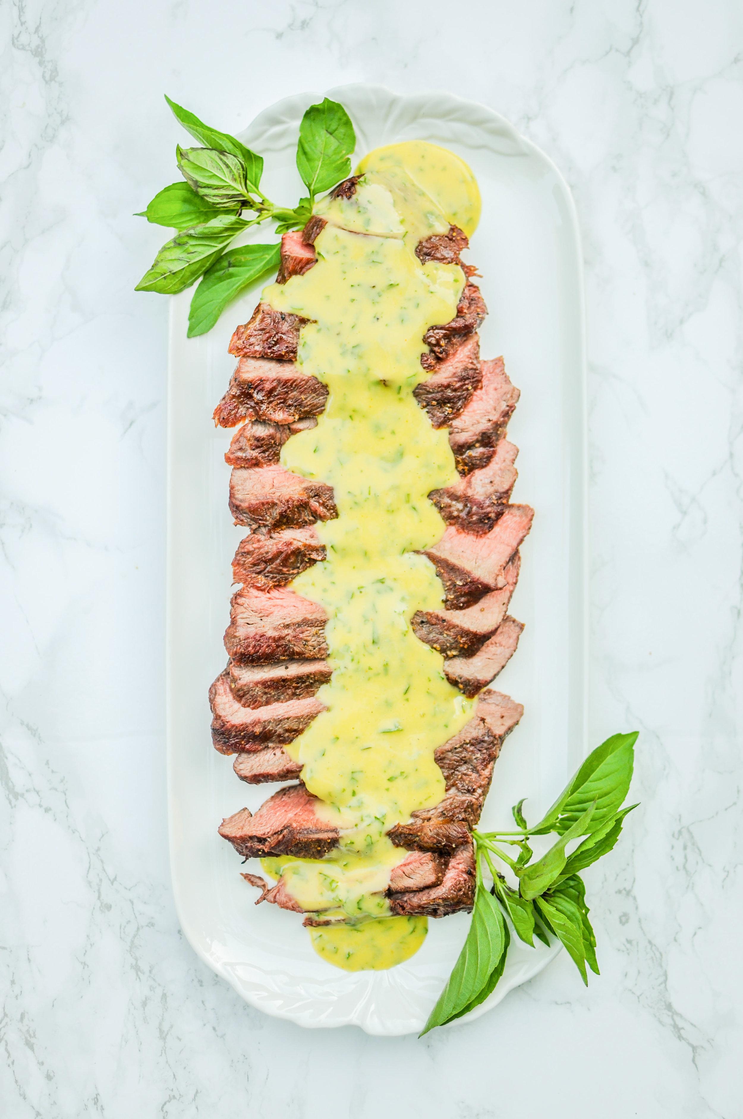 Flat Iron Steak with Basil Aioli Recipe