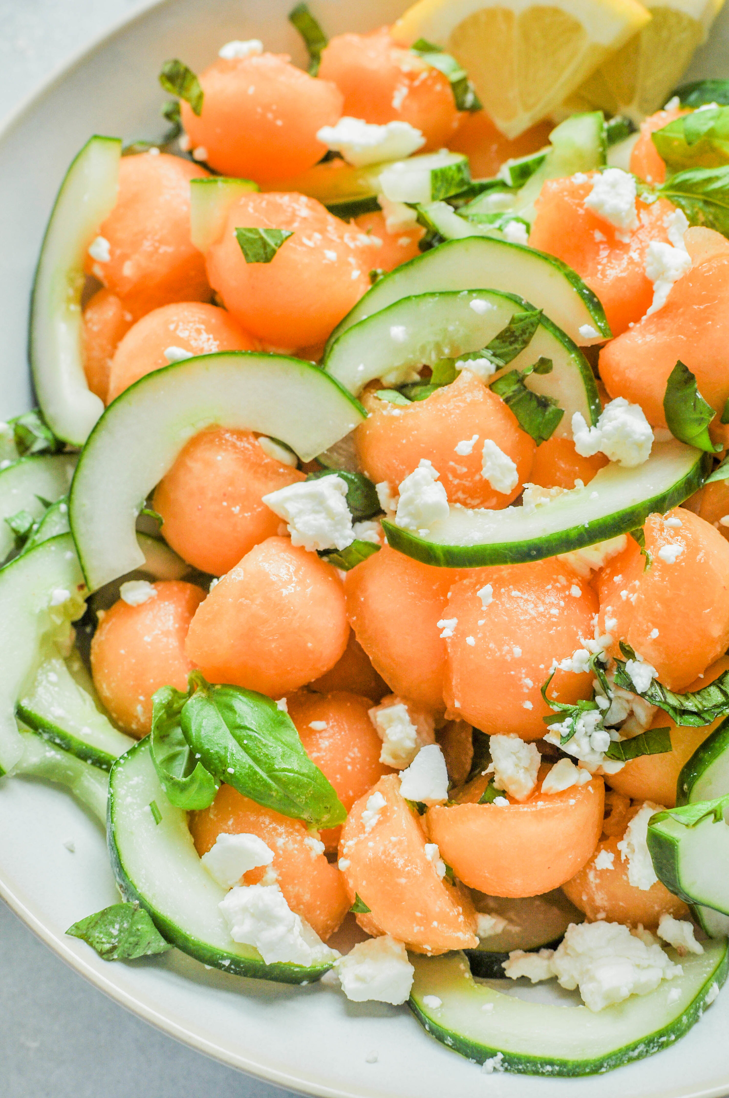 Cantaloupe Cucumber Salad Recipe | This Healthy Table