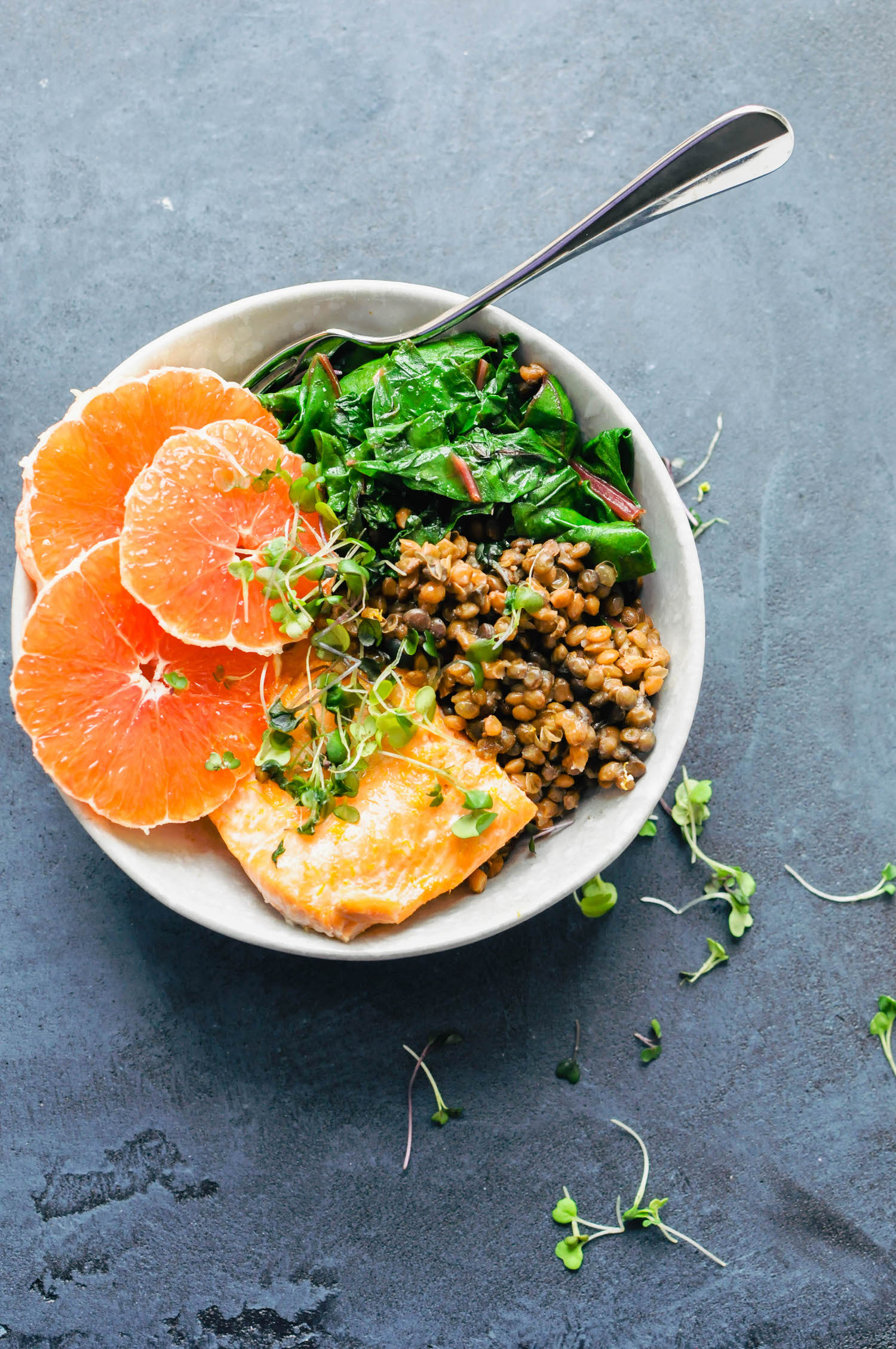 Cara Cara Orange Salmon & Lentil Bowl