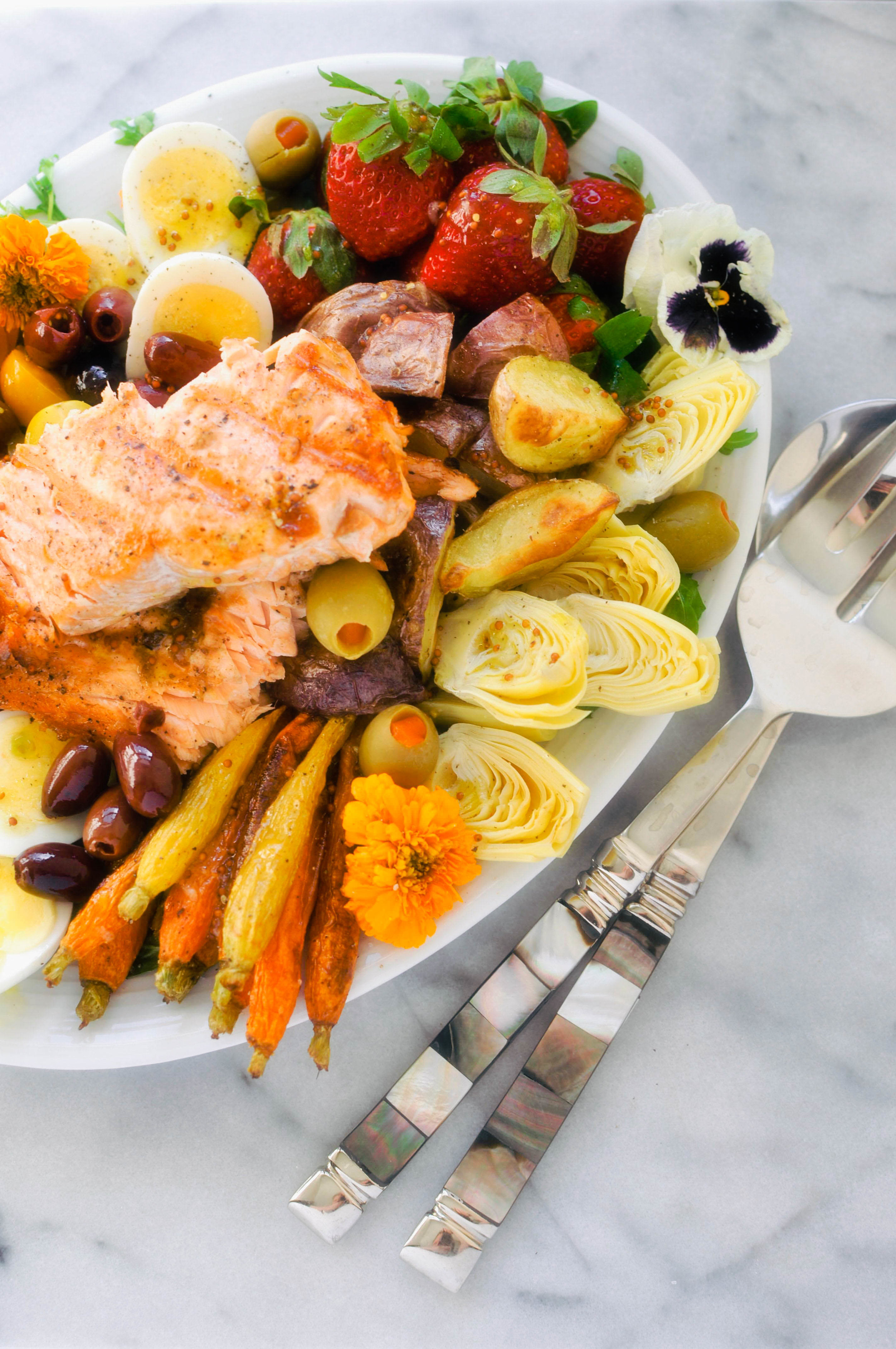 The Everything Salmon Salad Niçoise from This Healthy Table. Get the Recipe here. - The perfect pescetarian brunch option!