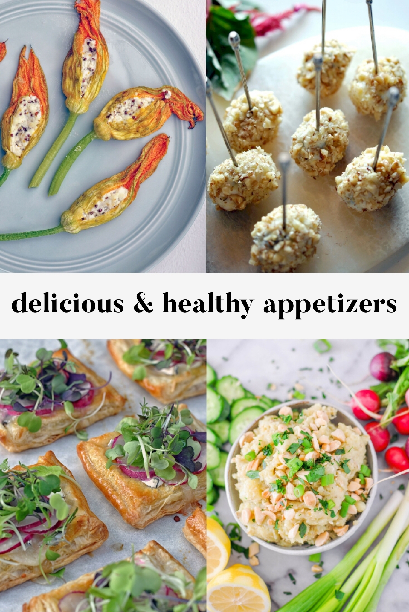 The Best Healthy Appetizer Recipes. These are all delicious, healthier options and would be perfect for a pre-dinner snack or a cocktails and canapés night.