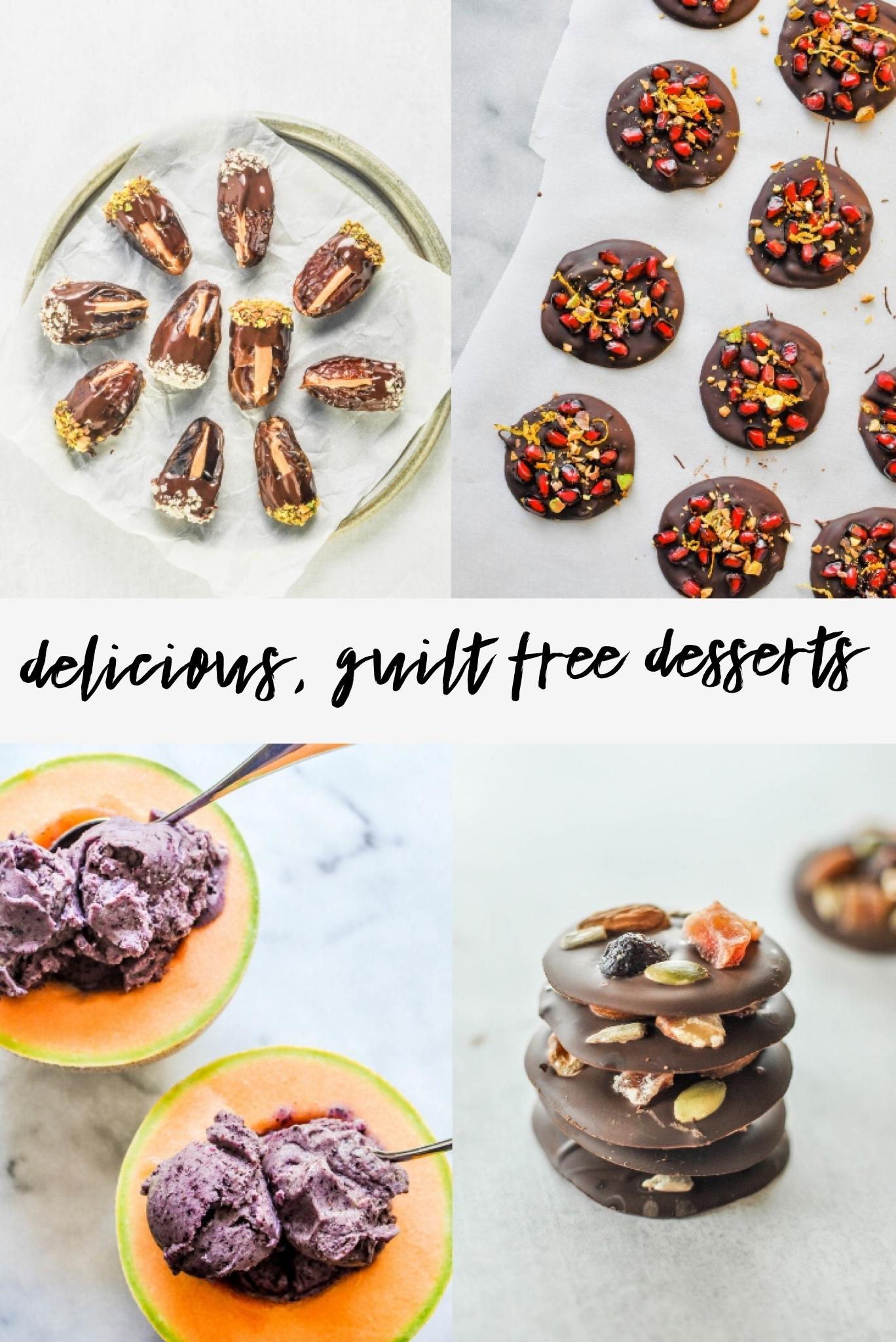 8 Guilt Free Desserts You'll Love! Enjoying something sweet or chocolatey doesn't have to wreck your healthy eating plan or give you an overwhelming sugar rush.
