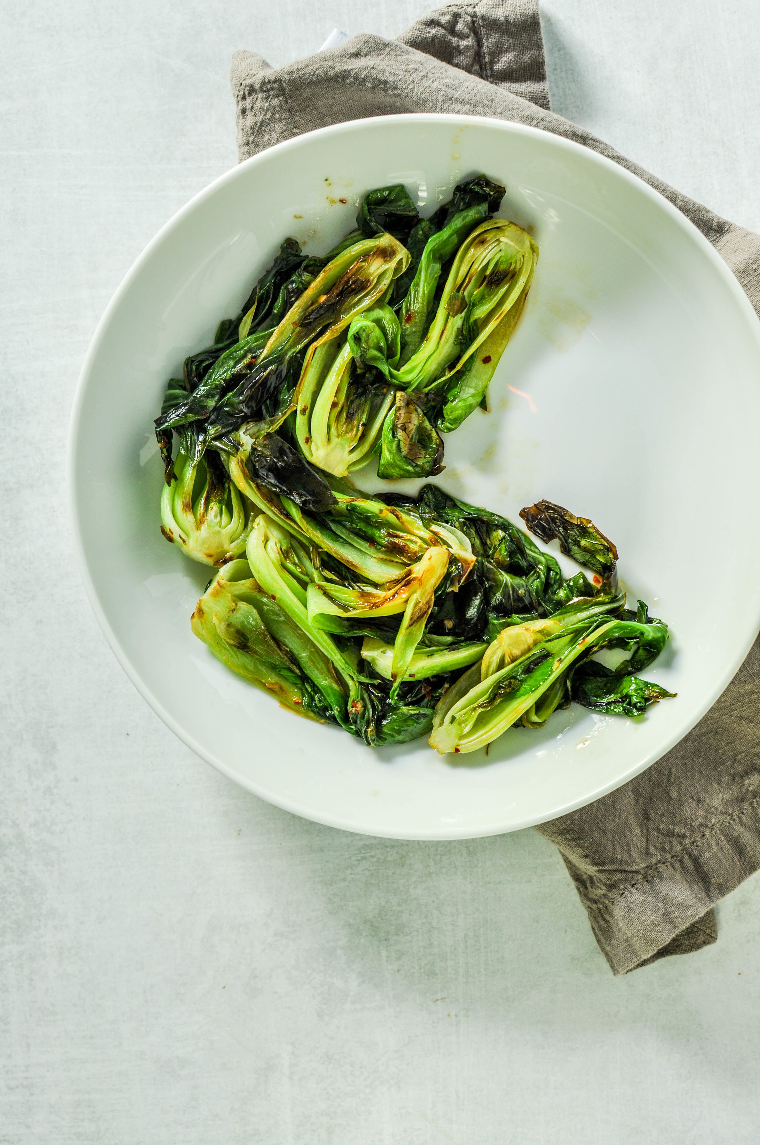 Healthy, Grilled Baby Bok Choy Recipe. An easy recipe for a delicious side dish.