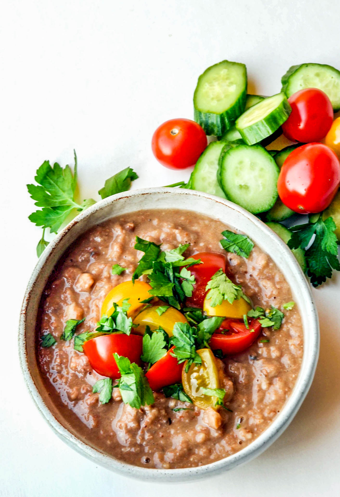 Ful Medames - a vegan, slow cooker recipe for fava beans, onions, garlic, and cumin. A healthy, delicious breakfast recipe.