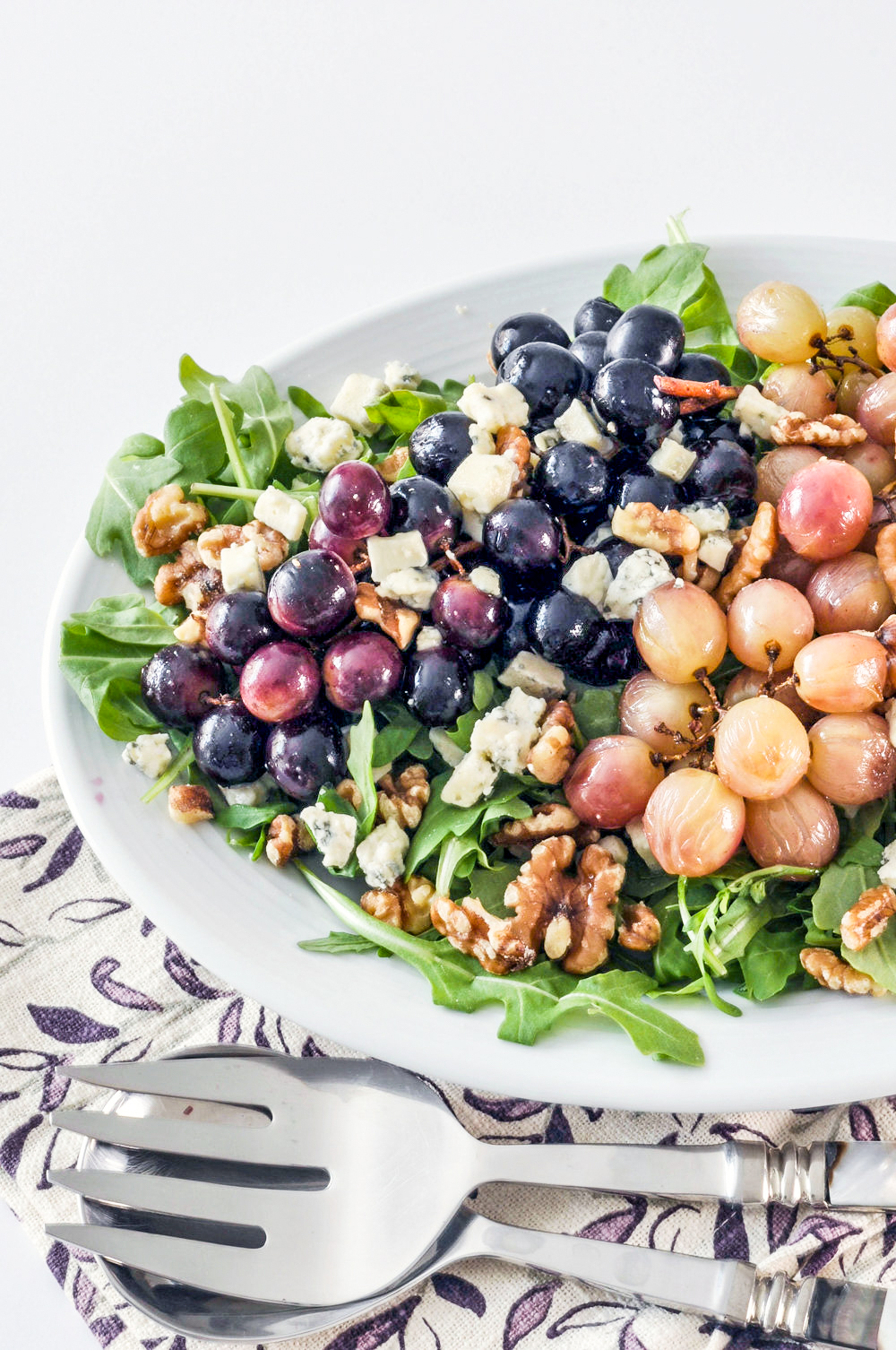 Roasted Grape Salad - a delicious, vegetarian salad