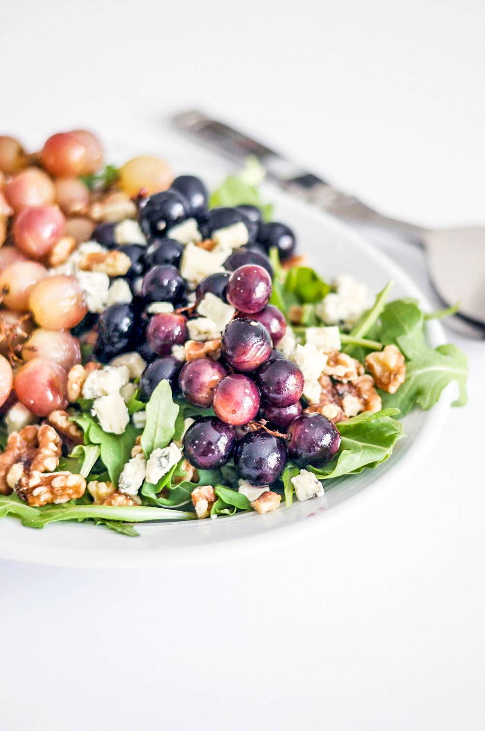 Roasted Grape Salad - a delicious, vegetarian salad recipe.
