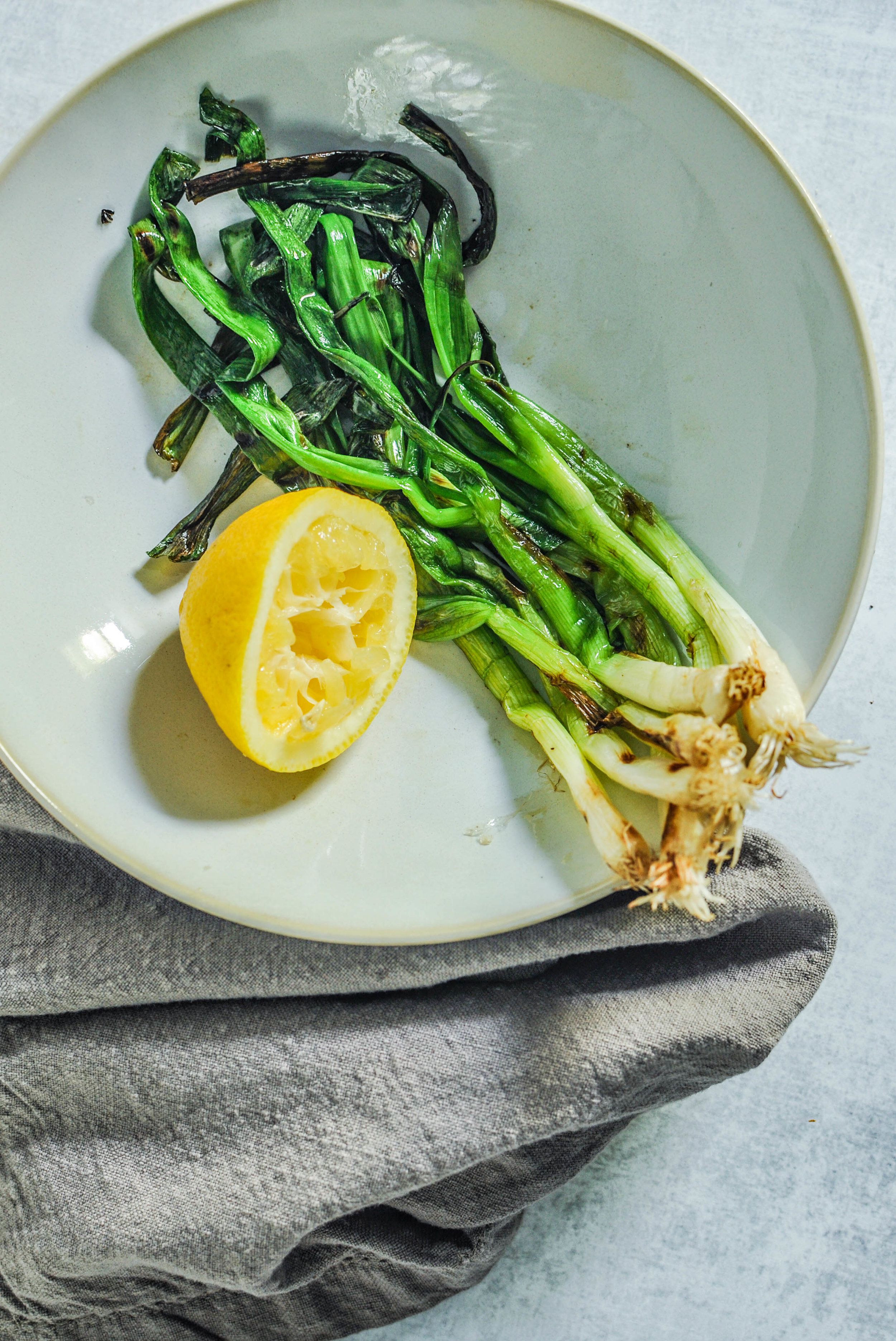 An easy side dish recipe - you'll love these grilled scallions!