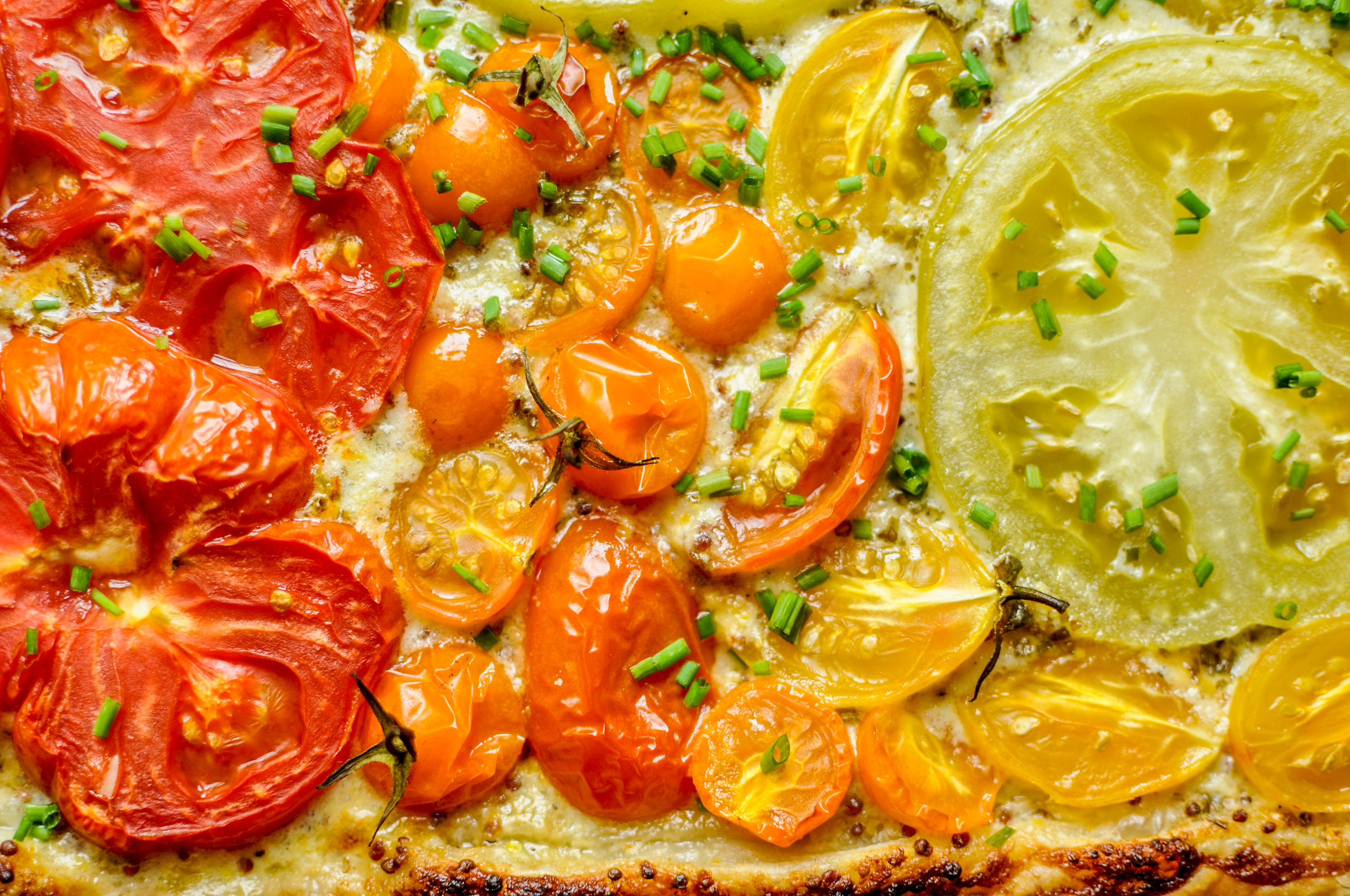 Fresh Tomato Tart with Mustard Crème Fraîche | This Healthy Table