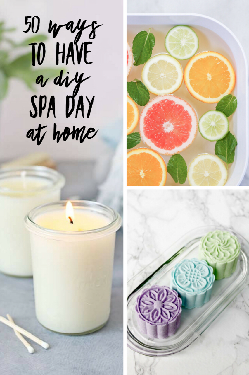 50 Ways to Have a DIY Spa Day at Home! Everyone loves the relaxed feeling of being pampered at a spa. Splashing out on a spa day can be expensive though, but you can still have all the fun and benefits of a spa day at home. DIY some of your favorite experiences - maybe you like a warm foot bath or a deep cleansing face mask - with just a few simple pantry ingredients you can have a homemade spa experience.