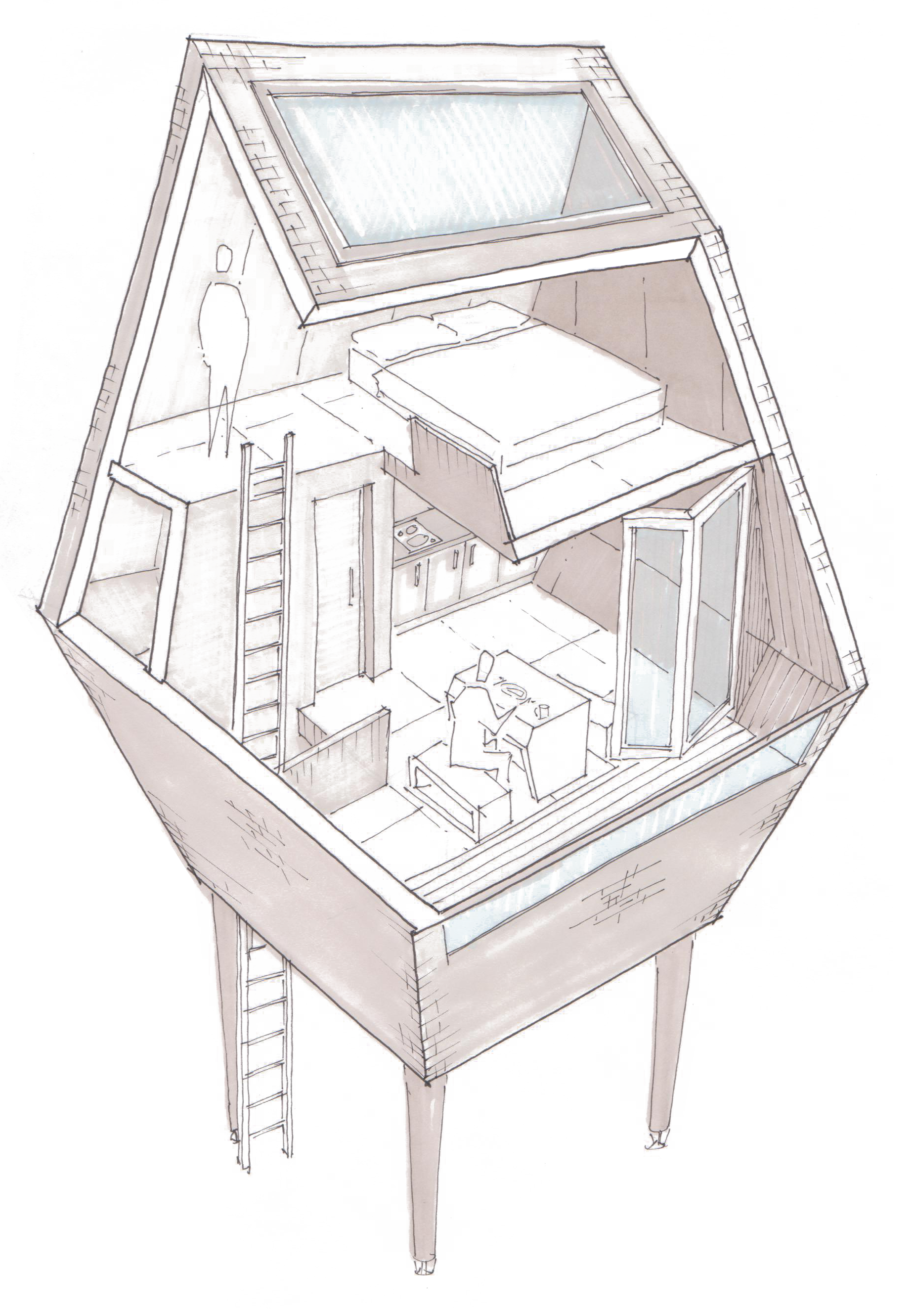 ArchTriumph Treehouse - Sketch