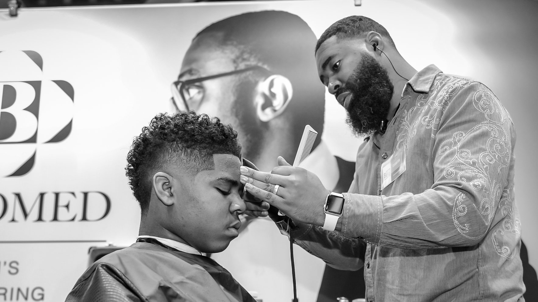 Featured Barber /w B-Groomed - Black Women's Expo 2016