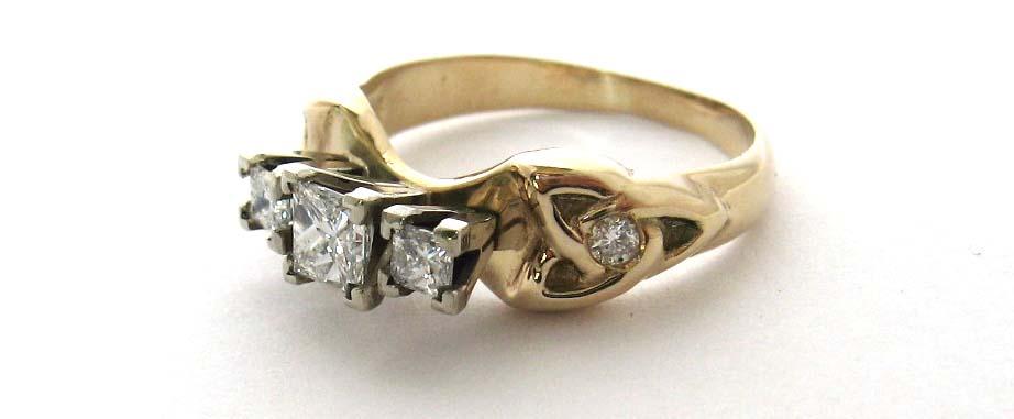 3 stone celtic engagement ring
