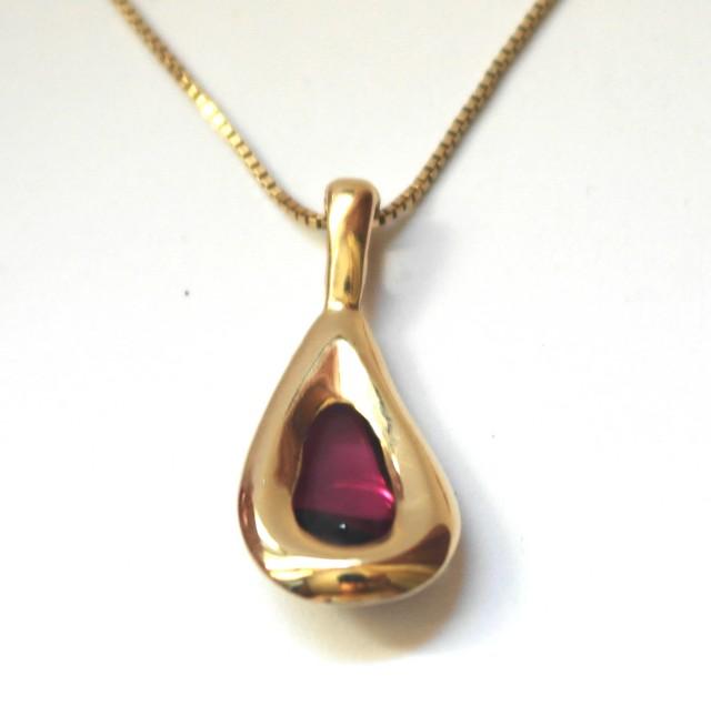 Teardrop pendant, back view