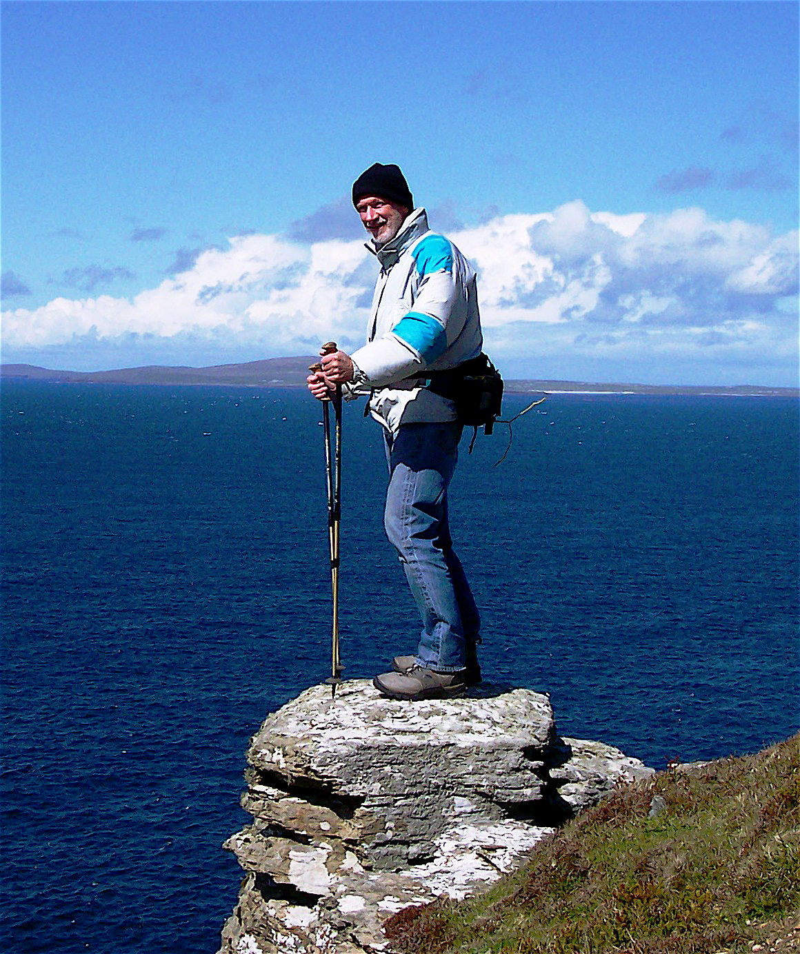 Dr. Jim Erdman, Sacquoy Head, northcoast of Rousay, Orkney
