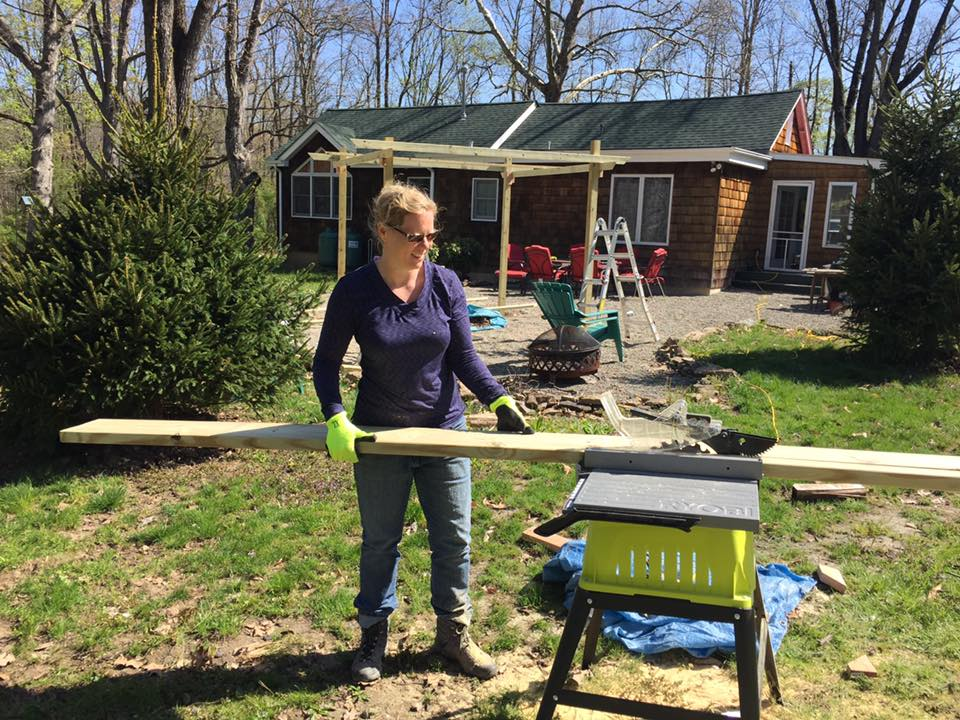 Brandi with table saw!