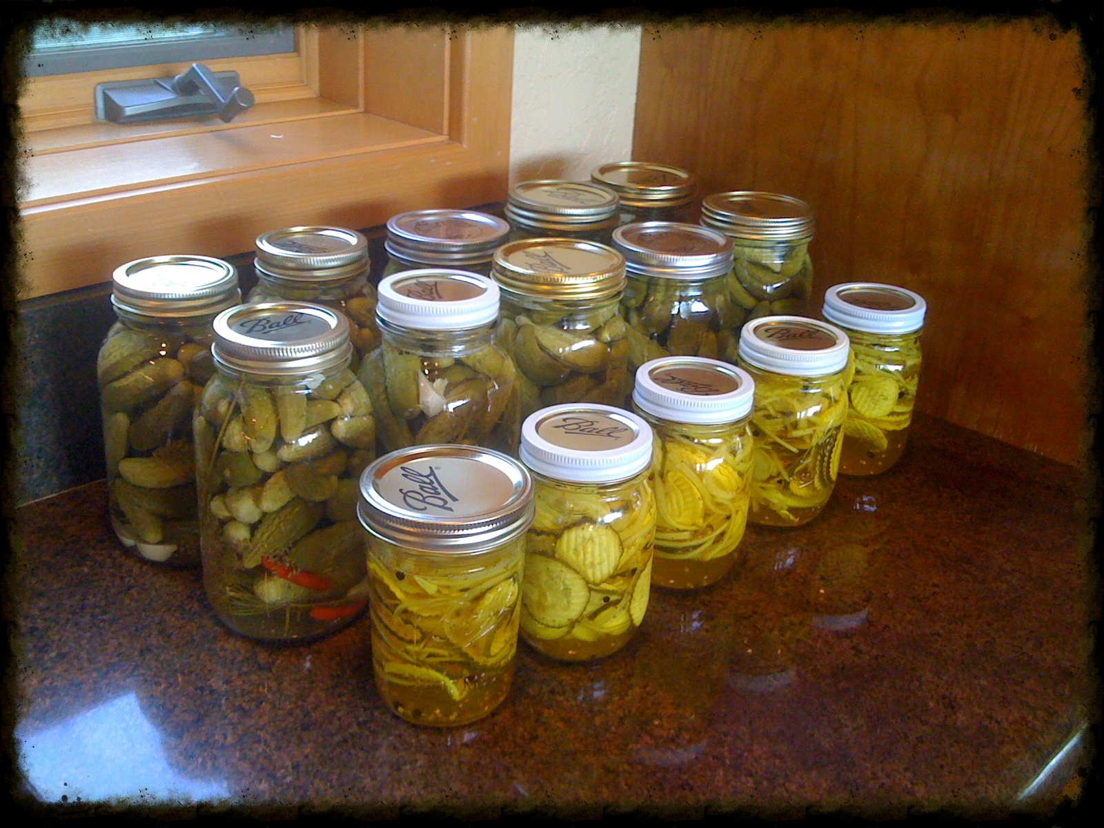 Canning pickles.