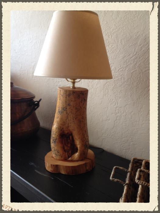 Wooden Lamp.