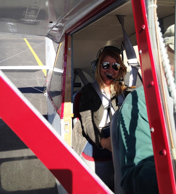 Seat belt on: Check, Head phones on: Check, Aviator Sunglasses on: Check