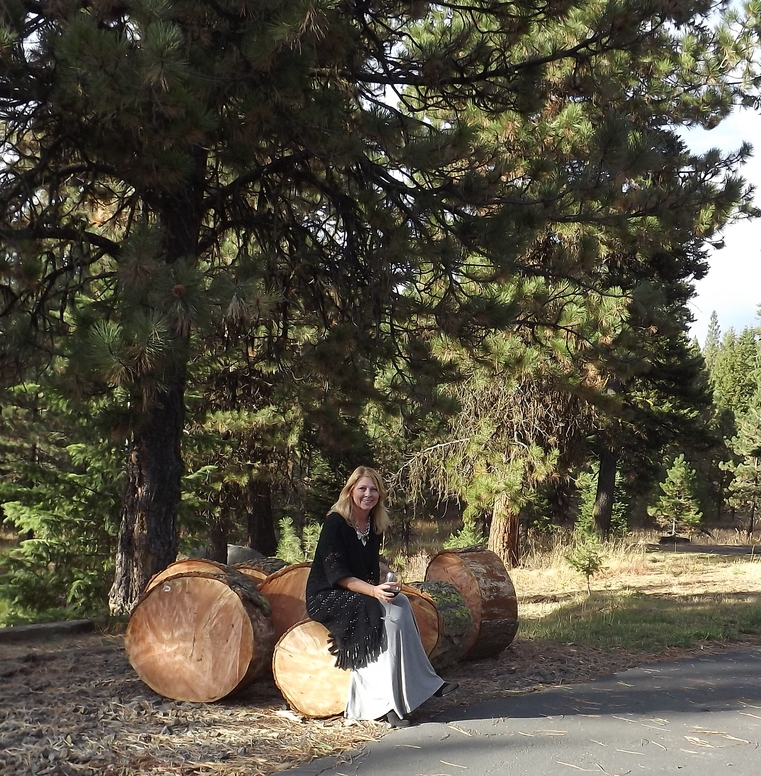 Tree rounds we split into fireplace size.