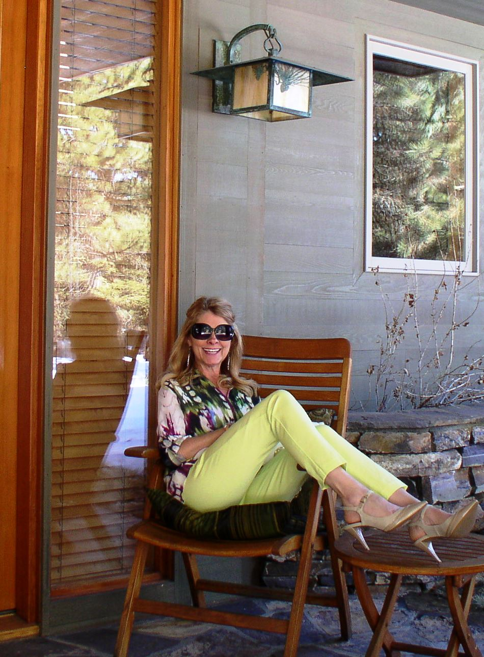 Neon Green Pants and Sweet Feet