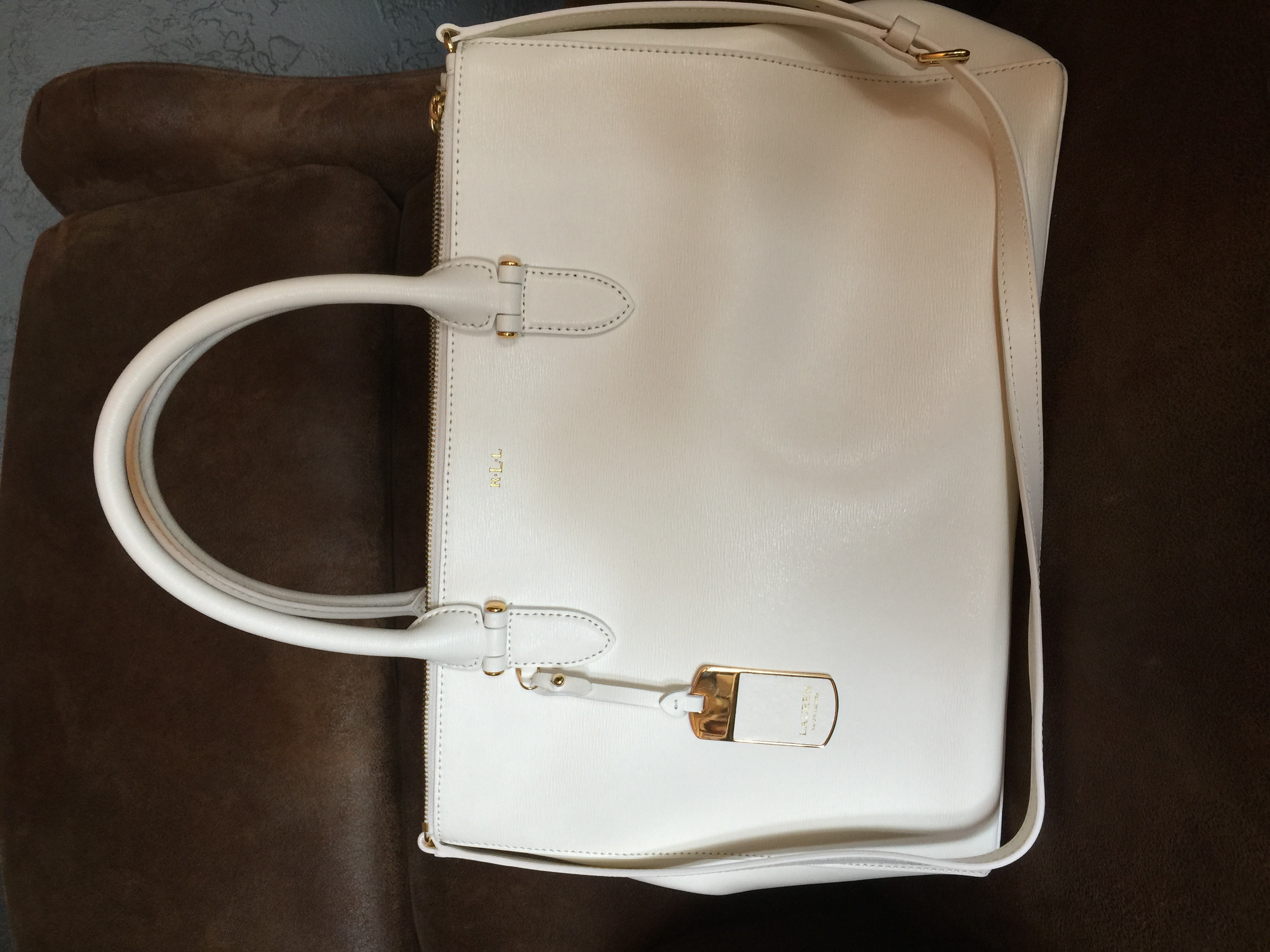 RL bag bought at TJ Max this winter. I wanted a bag in this color all last summer and finally found one I love!