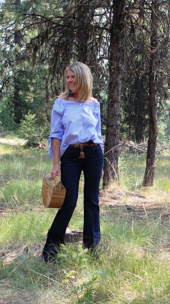 Click on picture for Full post. Rockin' Denim Over 40 On Northwest Mountain Living & Style -Flared Jeans