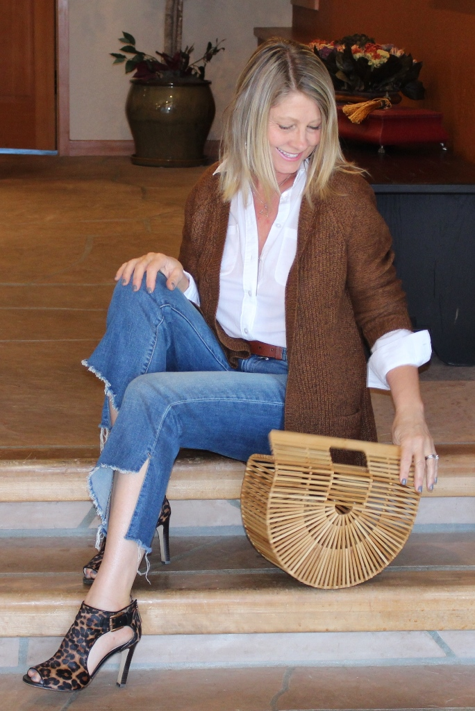 Click on picture for full post. Rockin' Denim Over 40 On Northwest Mountain Living & Style Kick Flare Ripped Hem Jeans