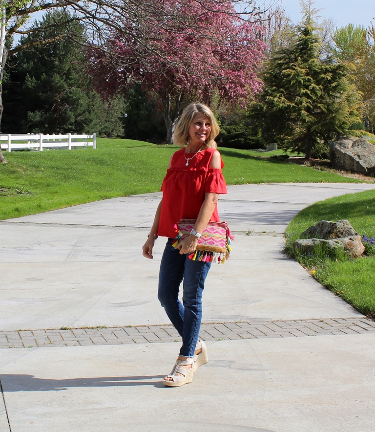 Click on picture for full post. Rockin' Denim Over 40 On Northwest Mountain Living & Style Raw Hem Skinny Jeans