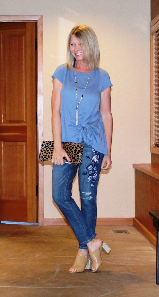 Click on picture for full post. Rockin' Denim Over 40 On Northwest Mountain Living & Style Embroidered Girl Friend Jeans