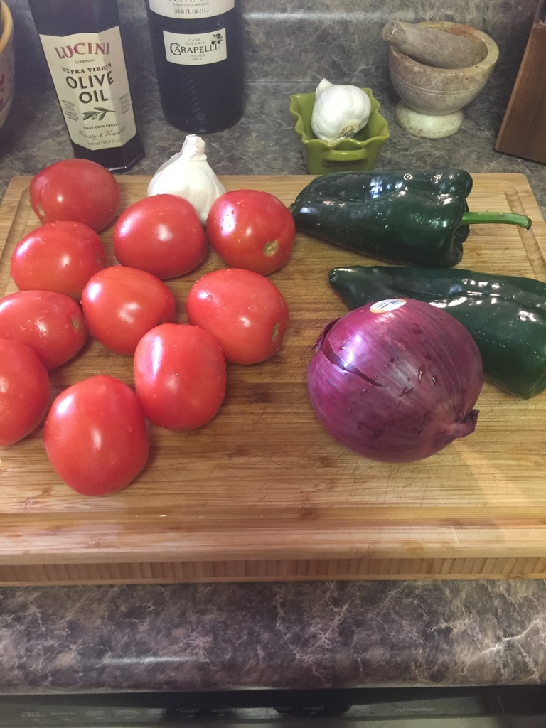 Fresh Tomatoes, Peppers and Onion for Roasted Tomato Soup On Northwest Mountain Living & Style