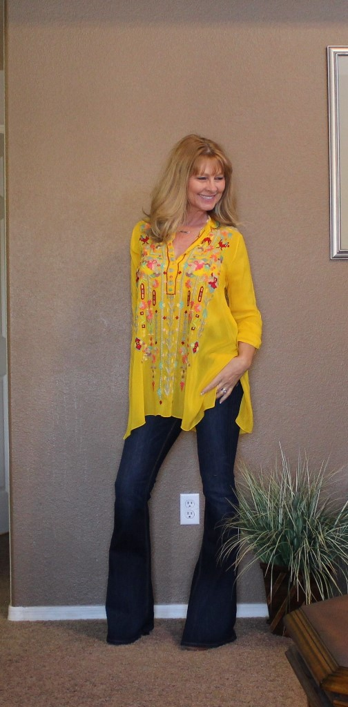 Johnny Was here! - Every spring the first things I want to style are my Johnny Was tops! As seen here, (the yellow again) here, (the white), here (the blue) and here (my favorite in the red).