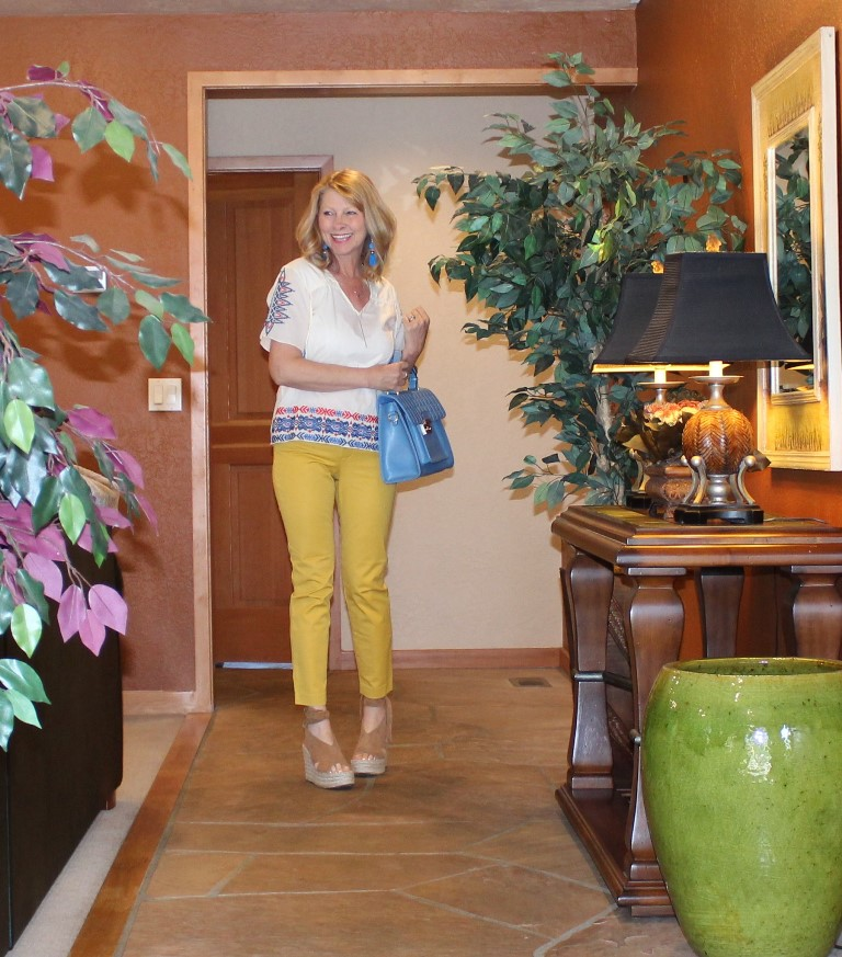 Summer colors - in vibrant yellows and blues
