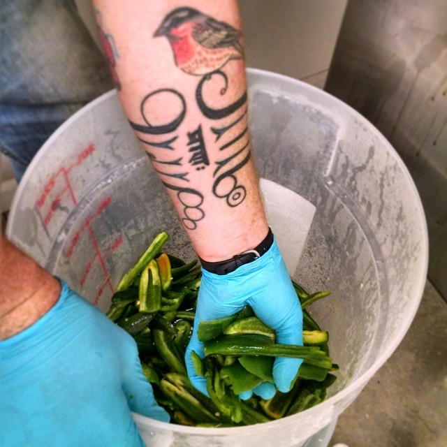 Famous for their JalapenoPale Ale , every batch uses handcut and fresh jalapenos!