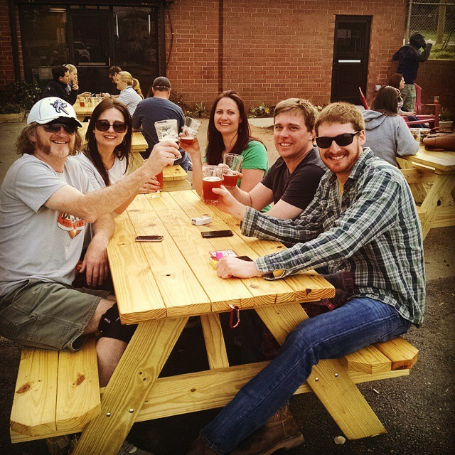 Nothing better than fresh craft beer with friends.