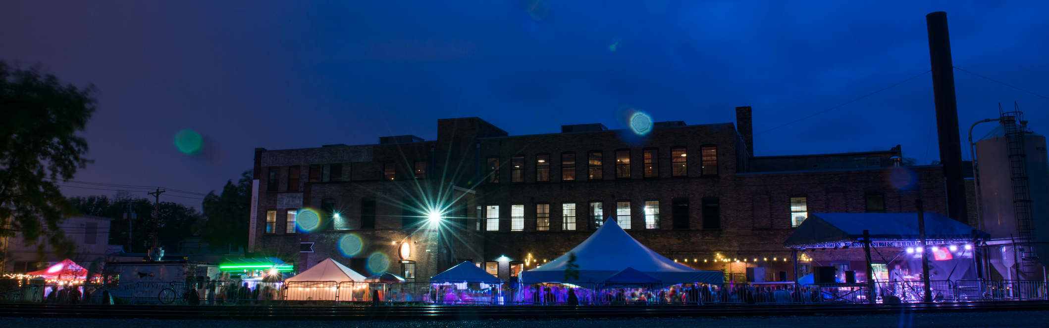A sweet little nightshot of Whirlygig 2015, Indeed's annual festival at the brewery.