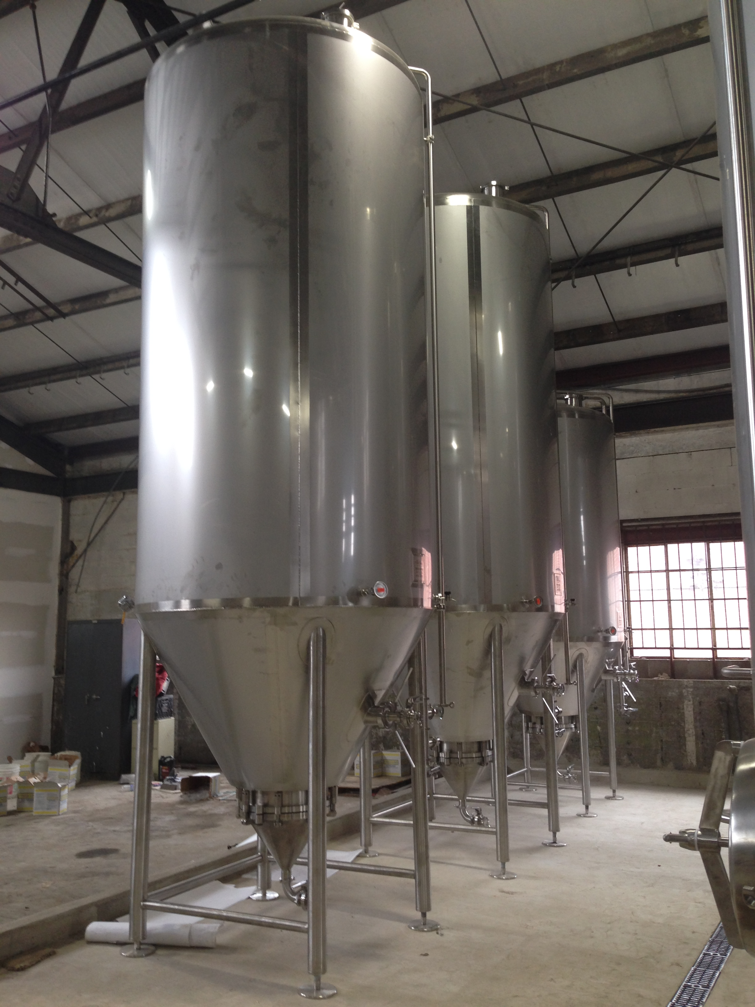 The fermentors. Beer Beer Beer!