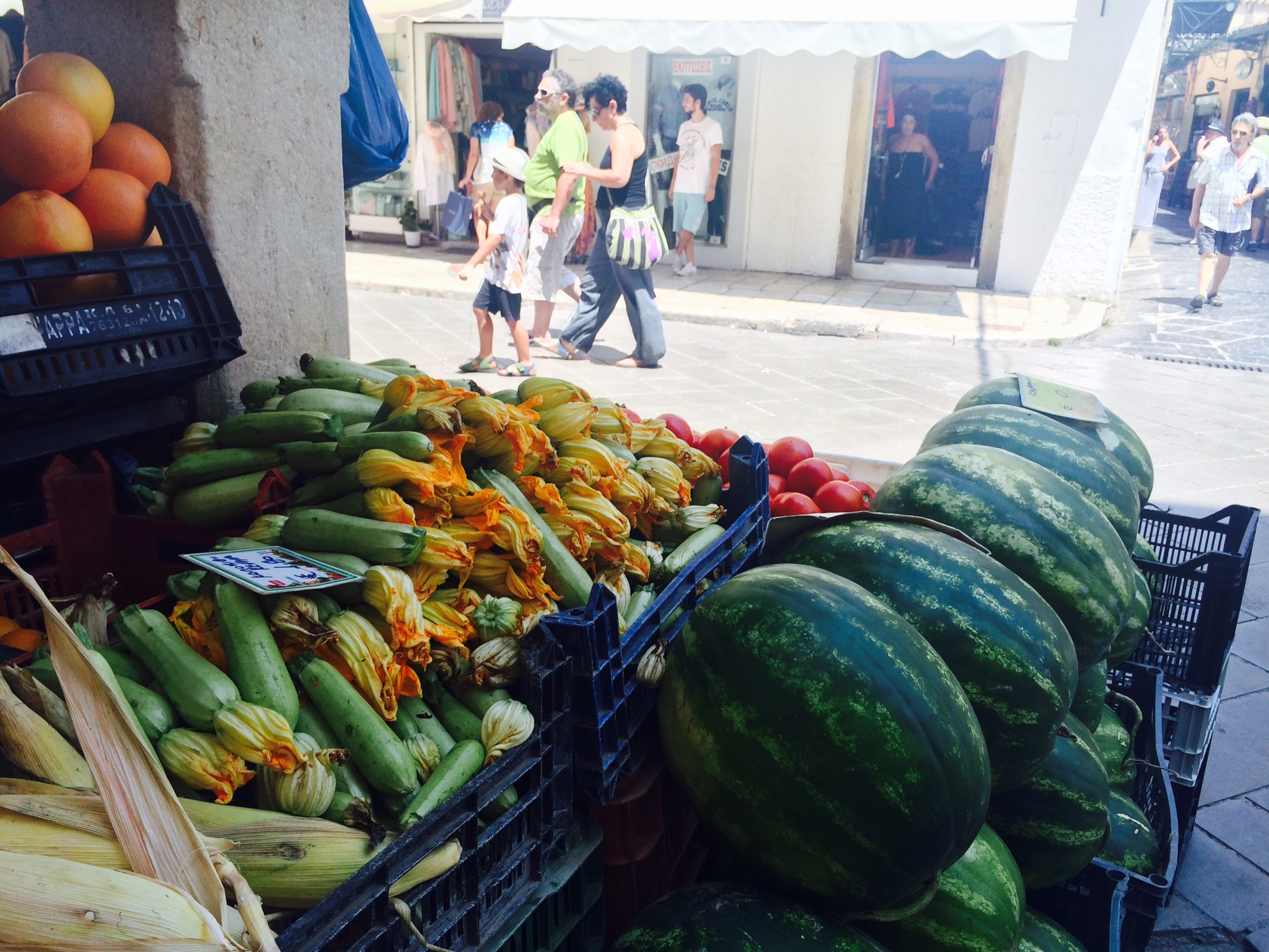 They have the best watermelon in the Greece. It gave me a serious stomach problem, but it was worth it.
