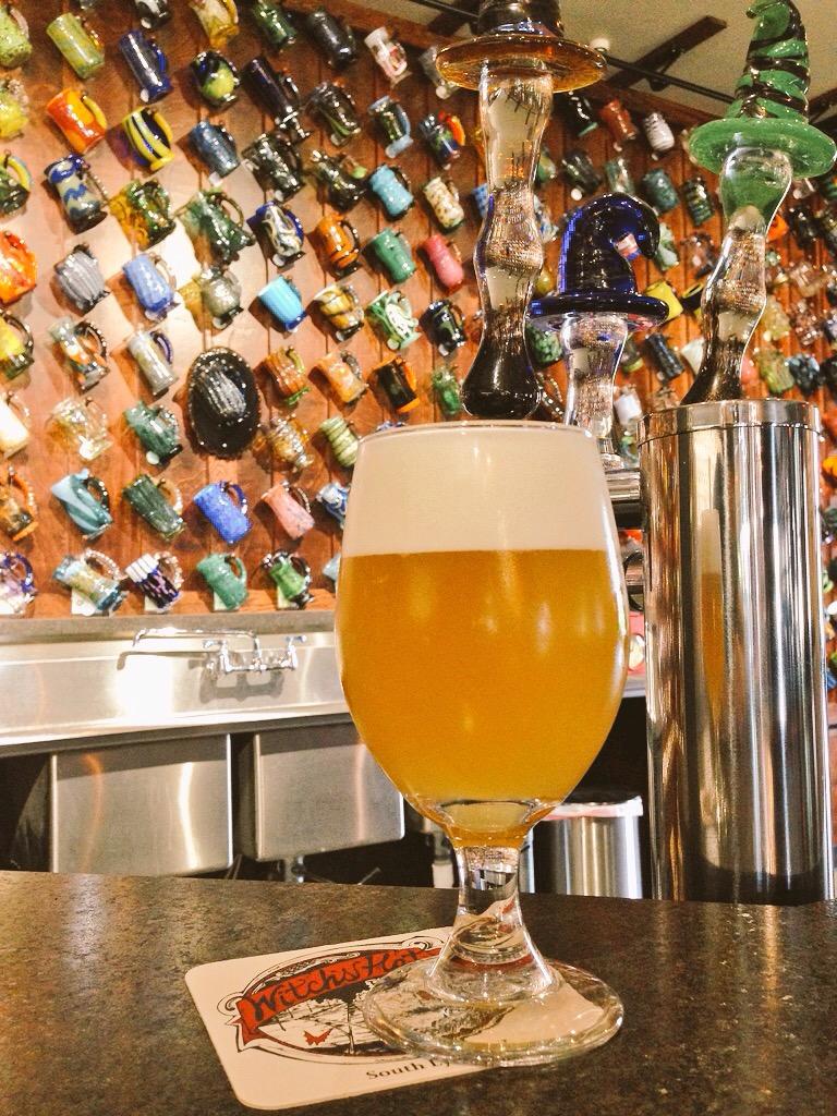 Hand-blown glass mug club at the brewery. Nuff said.