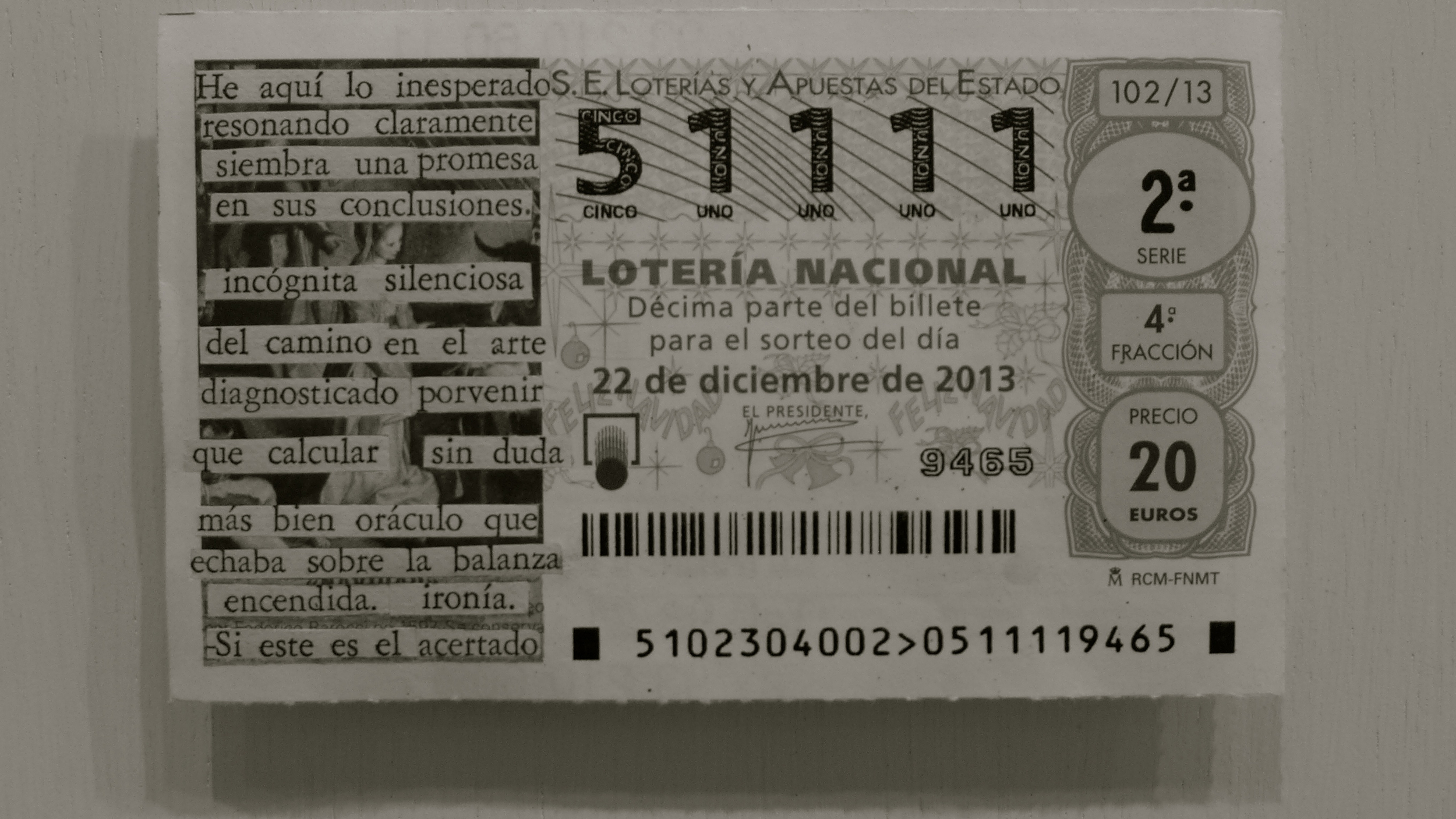 Mar Arza billete lotería