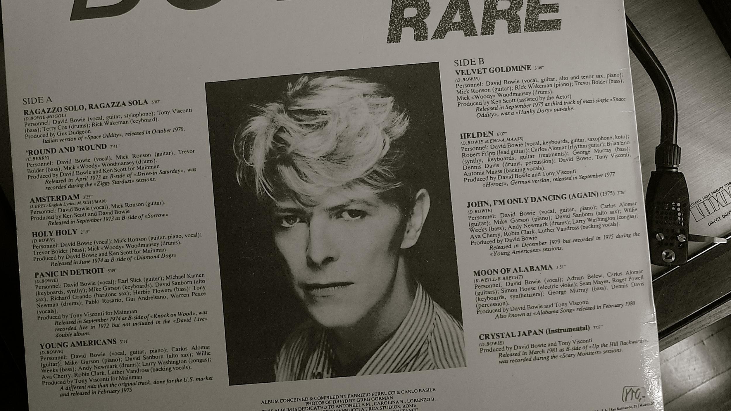 Rare Bowie